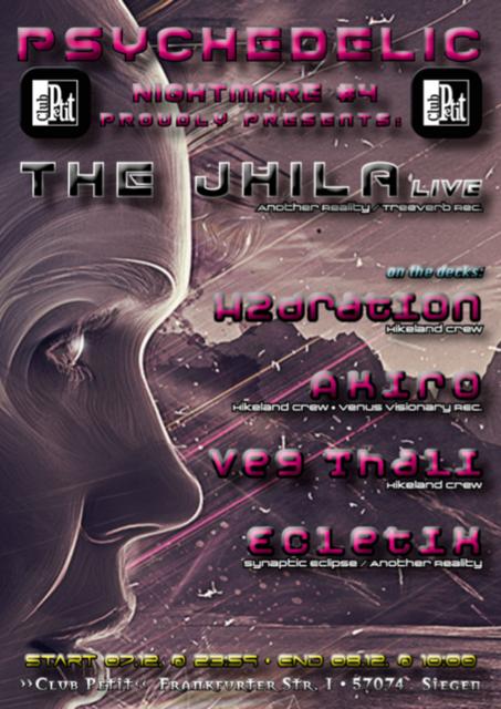 Party Flyer Psychedelic Nightmare #4 The Jhila Live 7 Dec '19, 23:30