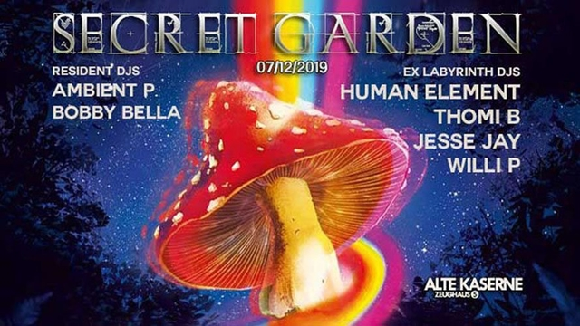 Party Flyer Secret Garden w/ EX Laby DJs 7 Dec '19, 23:00