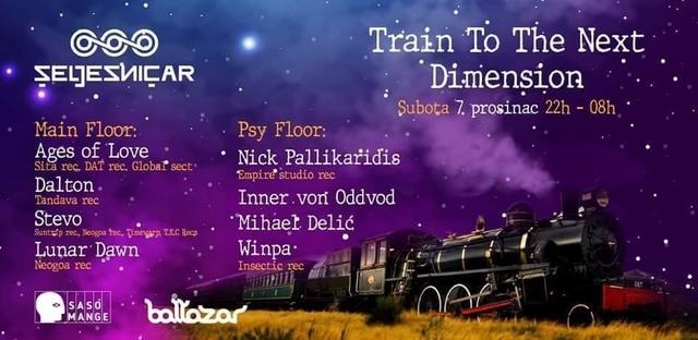 Party Flyer Train to the next dimension vol 4. 7 Dec '19, 22:00