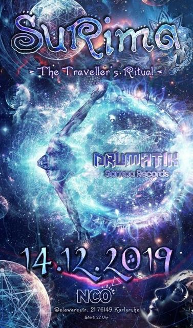 Party Flyer ๑ Surima - The Traveller's Ritual ๑ w/ Drumatik (live) 14 Dec '19, 22:00