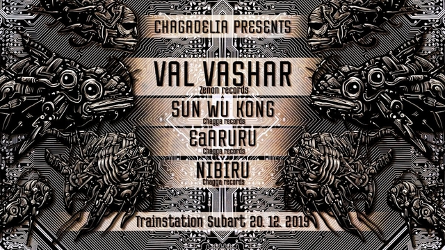 Party Flyer Chagadelia presents: Val Vashar (ZENON records) 20 Dec '19, 22:00