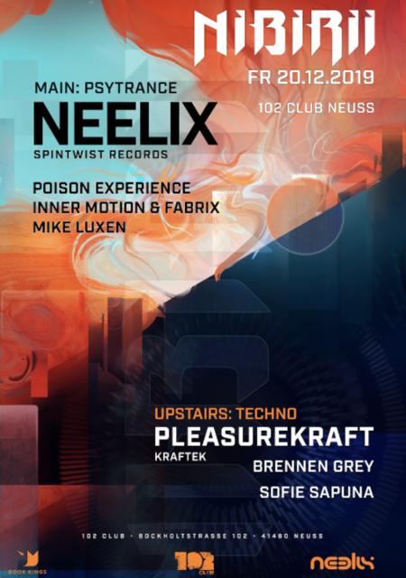 Party Flyer Neelix / Pleasurekraft at Nibirii 102 Club Neuss 20 Dec '19, 22:00