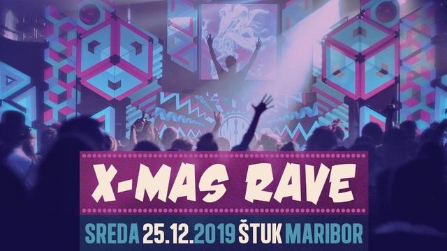 Party Flyer X-MAS Rave 2019 25 Dec '19, 22:00