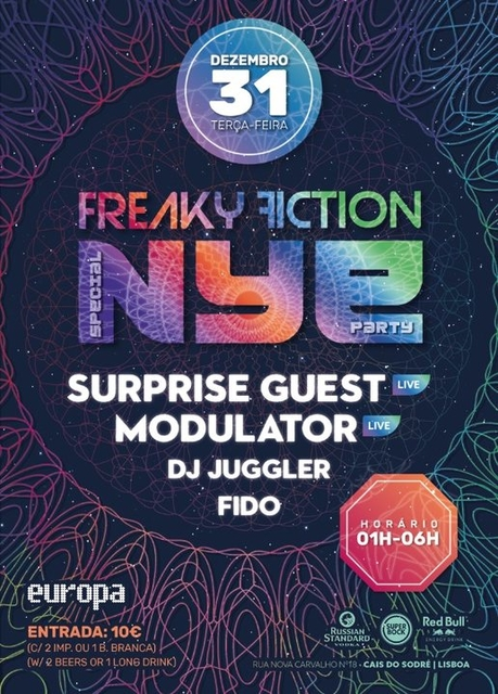 """Party Flyer FREAKY FICTION """"SPECIAL NYE PARTY"""" 31 Dec '19, 23:00"""