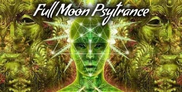 Party Flyer Full Moon Psytrance Ireland 2020 ॐ Encrypted Minds & Genepool 4 Jan '20, 21:00