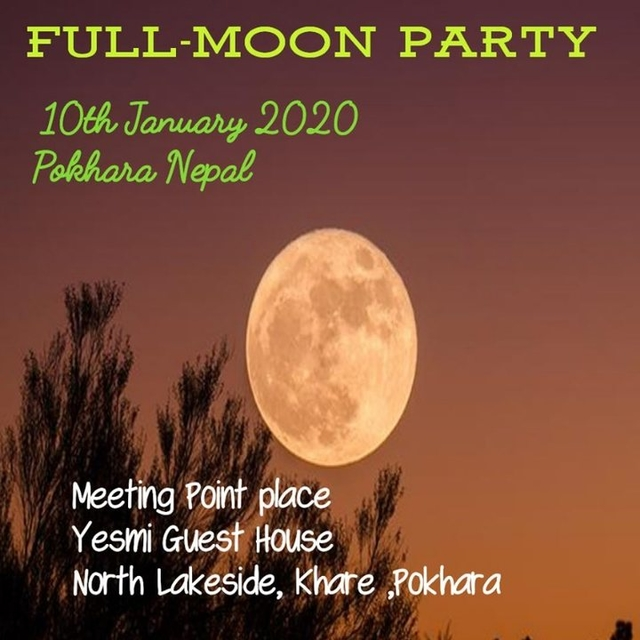 Party Flyer Full Moon Party 10 Jan '20, 01:30