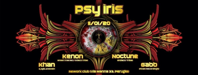 Party Flyer Psy Iris // 2020 11 Jan '20, 22:30