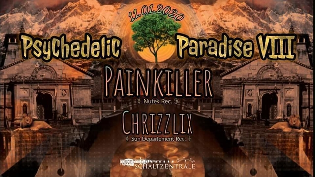 Party Flyer Psychedelic Paradise 8 11 Jan '20, 22:00