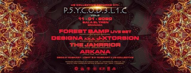 Party Flyer UG Collective & Sala El Tren Presentan: Psycodelic V.2 11 Jan '20, 23:30