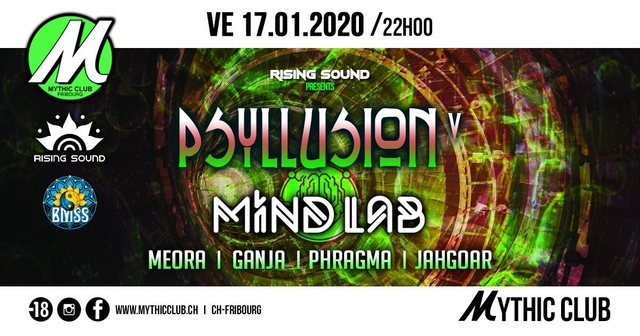 Party Flyer Psyllusion V w/ Mind Lab [BMSS Records] 17 Jan '20, 22:00