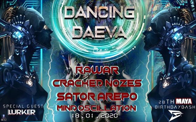 Party Flyer DANCING DAEVA VOL 01 18 Jan '20, 22:00