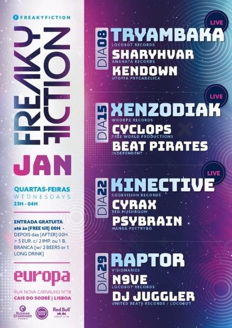 Party Flyer FREAKY FICTION 22 Jan '20, 23:00