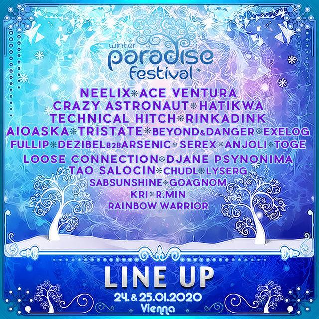 Party Flyer PARADISE WINTER FESTIVAL 2020 24 Jan '20, 21:00