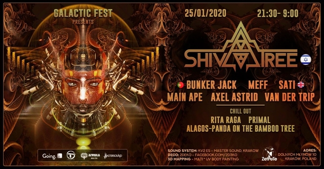 Party Flyer Galactic Fest with ShivaTree and Friends 25 Jan '20, 21:00