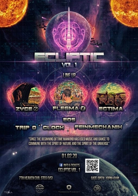 Party Flyer ECLIPTIC Vol 1 1 Feb '20, 22:00