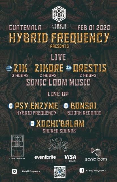 Party Flyer Hybrid Frequency Presents: Zik, ZikOre, Orestis Live! 1 Feb '20, 21:00