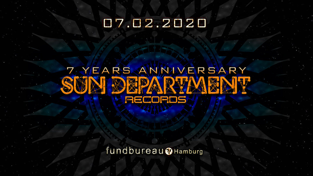 Party Flyer Sun Department Label Night - 7 Years Anniversary 7 Feb '20, 23:00