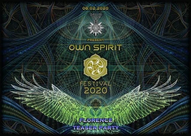 Party Flyer .: OWN SPIRIT FESTIVAL- Teaser Party 8 Feb '20, 23:00