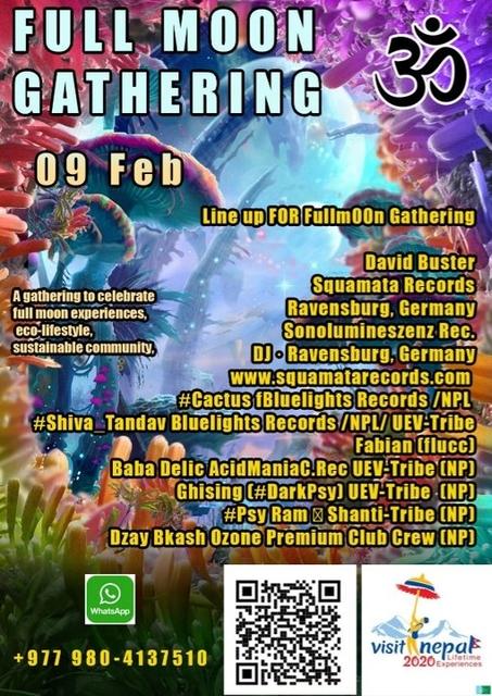 Party Flyer Fullm00n Gathering 9 Feb '20, 13:00