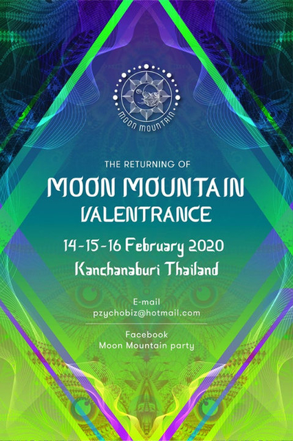 Party Flyer Valentrance Moon Mountain 2020 14 Feb '20, 11:00