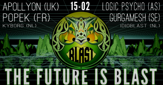 Party Flyer Amsterdam Blast Events: The Future Is Blast! 15 Feb '20, 22:00