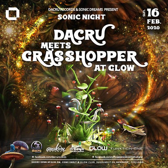 Party Flyer Sonic Night > Dacru meets Grasshopper 16 Feb '20, 21:30