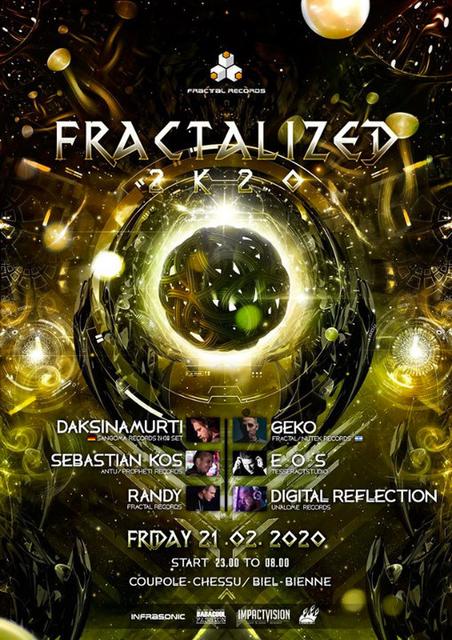 Party Flyer FractaliZed 2k20 21 Feb '20, 23:00