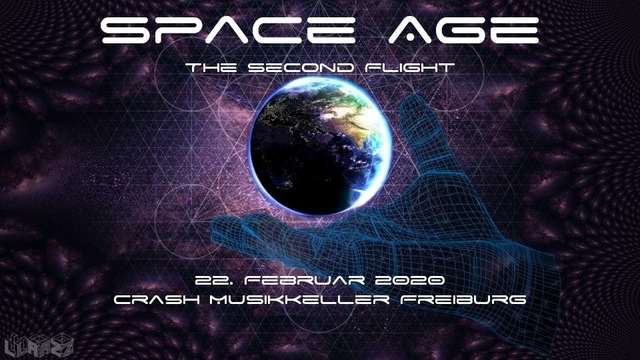 Party Flyer Space Age - the 2nd flight 22 Feb '20, 22:00