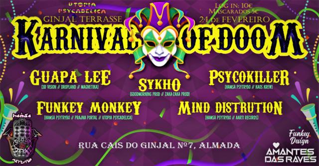 Party Flyer Hamsa Psytrybo // Karnival Of Doom 2020 24 Feb '20, 23:00