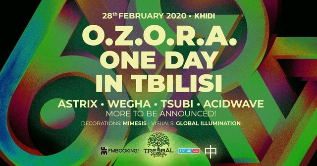 Party Flyer OZORA ONE DAY IN TBILISI 2020 BY TREEBAL 28 Feb '20, 23:00