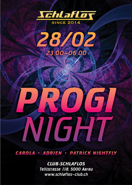 Party Flyer Progi Night 28 Feb '20, 23:00