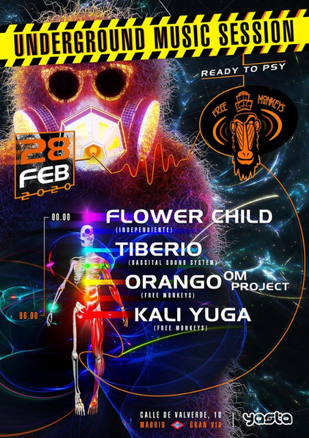 Party Flyer Underground Music Session - READY to PSY 28 Feb '20, 23:30