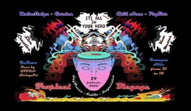 Party Flyer It's all in your head (tropical bleyage)serbia 28 Nov '20, 19:00