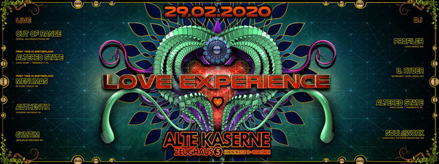 Party Flyer **LOVE EXPERIENCE Special Edition** 29 Feb '20, 22:30