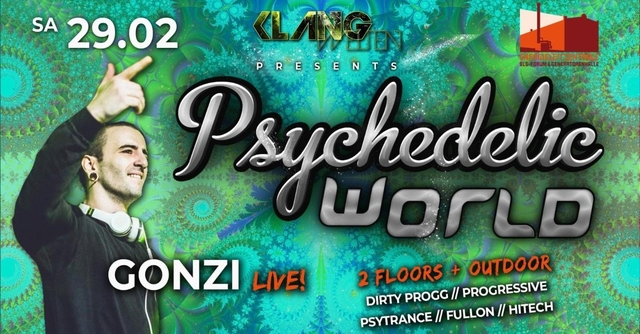 Party Flyer Psychedelic World | Gonzi Live 29 Feb '20, 23:00