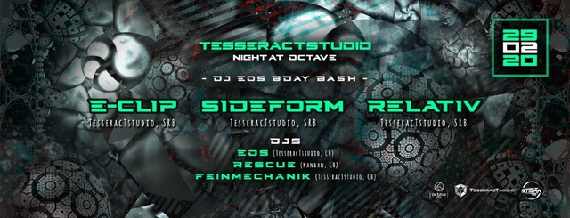 Party Flyer TesseracT Night at Octave 29 Feb '20, 22:00