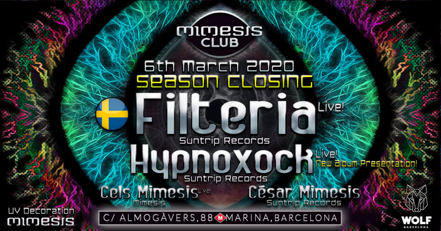 Party Flyer Mimesis CLUB 6 Mar '20, 23:30