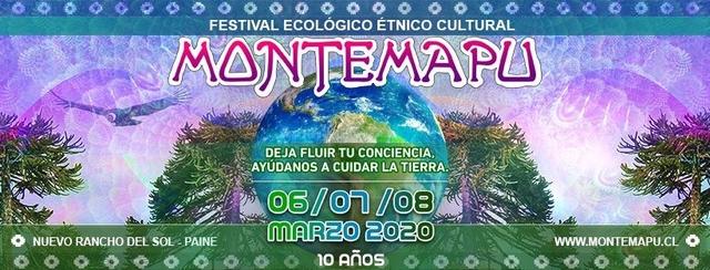 Party Flyer MonteMapu Festival 2020 6 Mar '20, 12:00