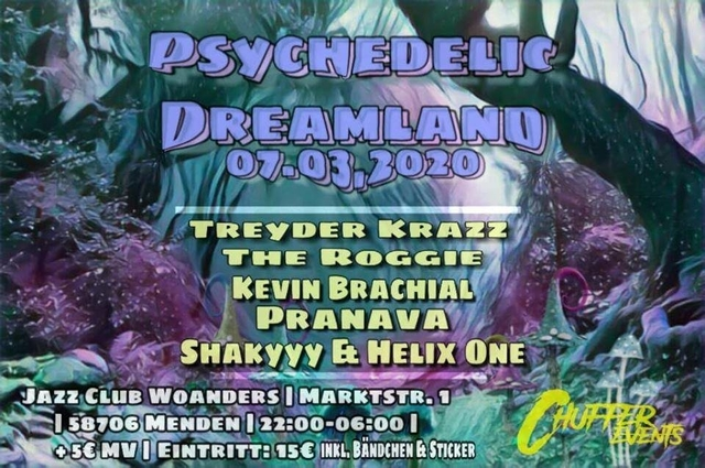 Party Flyer Psychedelic Dreamland 7 Mar '20, 22:00