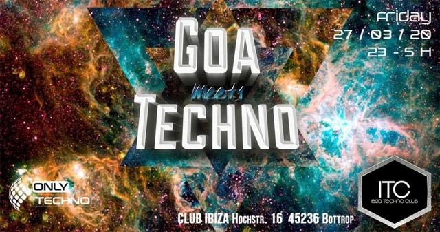 Party Flyer Goa meets Techno 27 Mar '20, 22:00