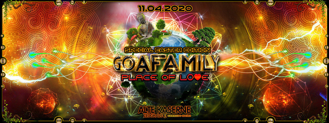 Party Flyer **GOAFAMILY Place of Love - Special Easter Edition** 11 Apr '20, 22:30