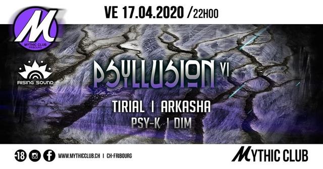 Party Flyer Psyllusion VI w/ Tirial, Arkasha 17 Apr '20, 22:00