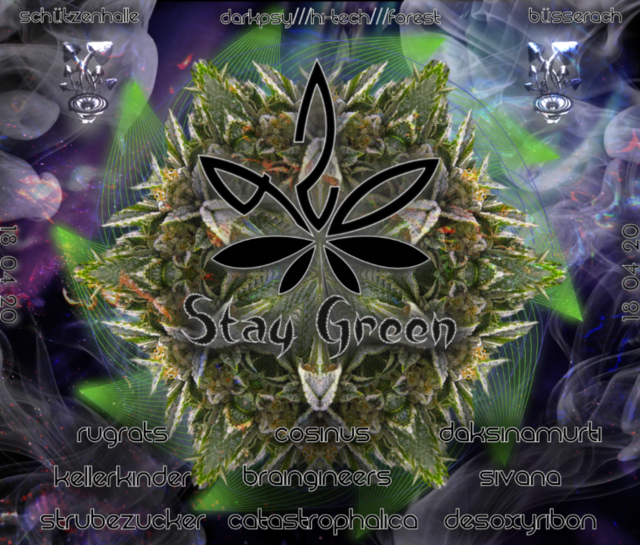 Party Flyer 420 Stay Green 18 Apr '20, 16:00