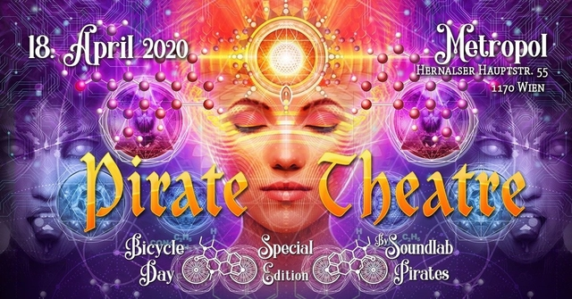 Party Flyer PIRATE THEATRE - Bicycle Day Special 18 Apr '20, 22:00