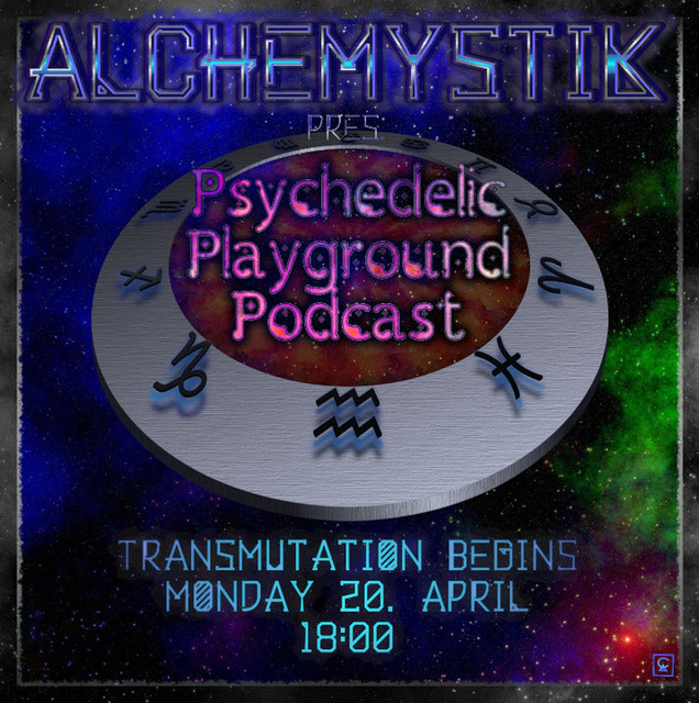 Party Flyer Psychedelic Playground Podcast 20 Apr '20, 18:00