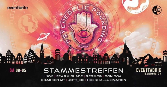 Party Flyer Psychedelic Pounding Stammestreffen - One Year Anniversary 9 May '20, 22:00