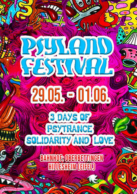 Party Flyer Psyland Festival 3 Days of Psytrance,Solidarity and Love 29 May '20, 14:00