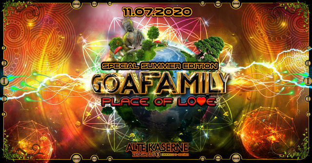 Party Flyer **GOAFAMILY Place of Love - Special Summer Edition** 11 Jul '20, 22:30