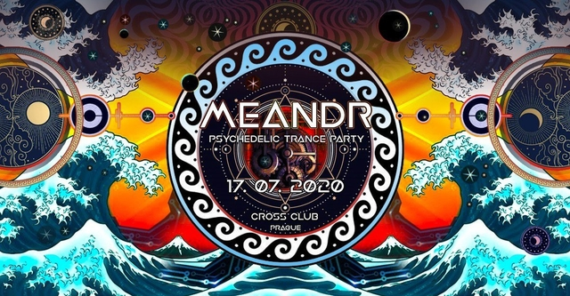 Party Flyer Meandr - Psychedelic trance party 17 Jul '20, 18:00