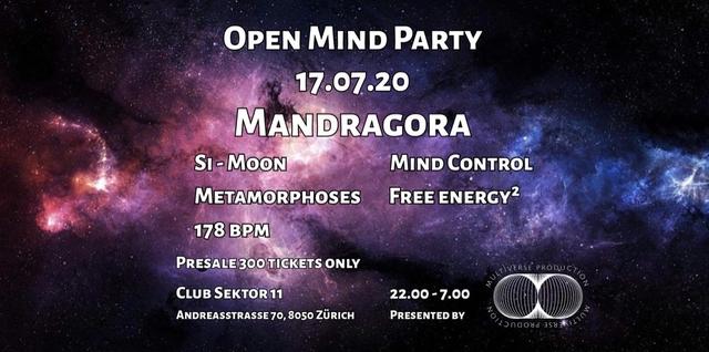 Party Flyer Open Mind Party with xX!MANDRAGORA!Xx 17 Jul '20, 22:00
